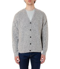 john elliott white & grey wool blend v-neck cardigan