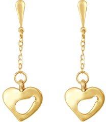 orecchini cuore in oro per donna