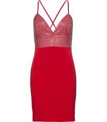 abito elasticizzato (rosso) - bodyflirt boutique