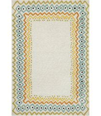 liora manne' capri 1607 ethnic border 2' x 8' indoor/outdoor runner area rug
