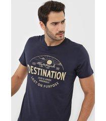 camiseta jack & jones navy blazer azul-marinho