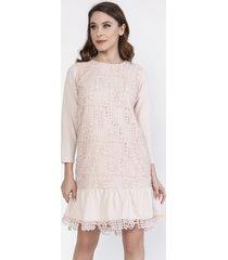 sukienka z tiulową siatką