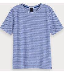 scotch & soda t-shirt met korte mouwen van een linnenmix