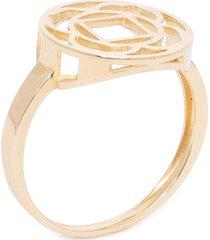anel feminino chacra muladhara em ouro