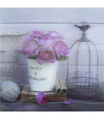 quadro 3d kasa ideia rosas 30x30cm