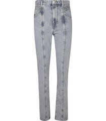 isabel marant thigh fit long jeans