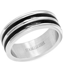 anthony jacobs men's two-tone stainless steel ring - size 10