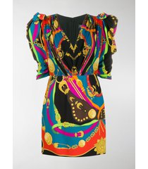 versace barocco rodeo print mini dress