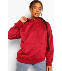 basic oversized hoodie, berry