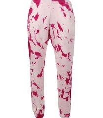 hot cc tie-dye print sweat pants