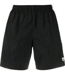 alexander mcqueen skull patch swim shorts - black