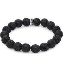 lava rock sterling silver bracelet