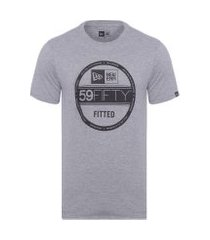 camiseta masculina básico essentials selo - cinza