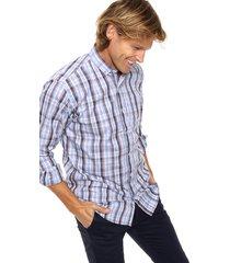 camisa azul scotfield san francisco fb modelo clásico