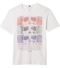 camiseta john john rx future skulls malha algodão off white masculina (off white, gg)