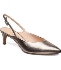 laina55 sling shoes heels pumps sling backs guld clarks