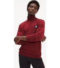 tommy hilfiger men's lewis hamilton relaxed fit sweater cabernet - xxl