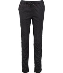 garcia zwarte suèdelook tapered fit broek