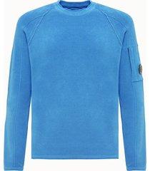 c.p company maglia girocollo in ciniglia azzurra