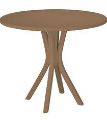 mesa de madeira redonda de madeira felice 410 marrom médio - maxima