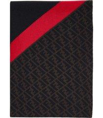fendi ff motif wool scarf