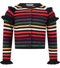 sonia rykiel multicolor cardigan for babygirl
