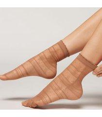 calzedonia sheer fashion socks woman nude size tu
