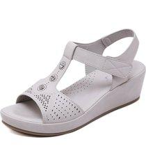 sandalias de cuña ligeras casuales para mujer