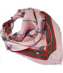 pañuelo rosa nuevas historias  estampa cuerdas ba1315-24