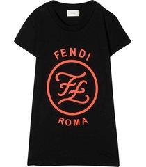 fendi black dress with frontal logo