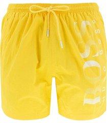 boxer da mare logo stampato tessuto tecnico octopus 50371268 giallo