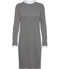 dresses flat knitted jurk knielengte grijs esprit casual
