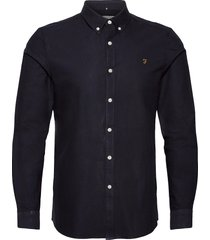 brewer slim fit cotton oxford shirt skjorta business blå farah