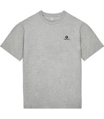 converse camiseta embroidered star chevron grey