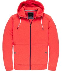hooded jacket bikesweat rococco red