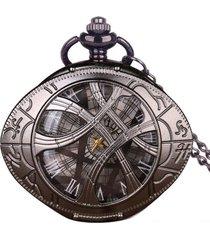 reloj bolsillo cadena cuarzo ovalado 3045