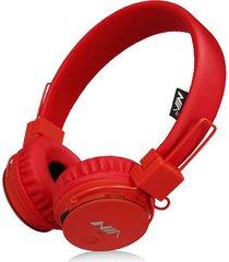 audífonos gamer, nia x2 gaming estéreo hd manos libres original auriculares bluetooth libre plegables deportivos con micrófono de apoyo tf tarjeta de radio fm (rojo)