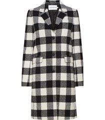check wool crombie dunne lange jas zwart calvin klein jeans