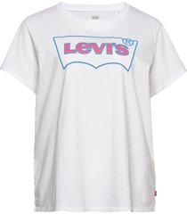 pl perfect tee pl bw outline w t-shirts & tops short-sleeved vit levi's plus