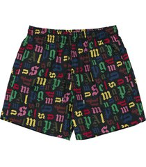 x vilebrequin black monogram swim shorts