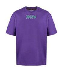 gcds camiseta com estampa de logo - roxo