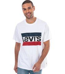 mens b & t big graphic logo stripe t-shirt