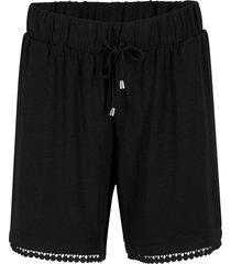 shorts in jersey con cinta comoda e pizzo (nero) - bpc bonprix collection