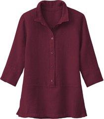 lichte linnen blouse, granaatappel 40