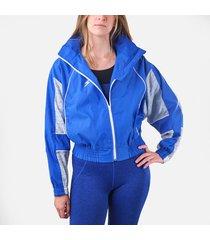 chaqueta corta oversized macarena azul rey reflectiva