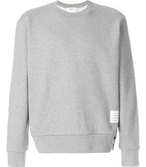 thom browne center-back stripe jersey pullover - grey