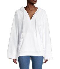 alala women's baja oversized hoodie - white - size xs