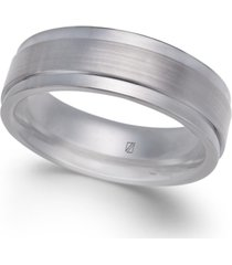 men's satin-finish cobalt ring
