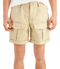 inc international concepts men's pleather cargo shorts, created for macy's