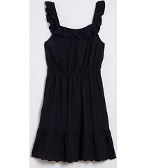 loft loft beach eyelet tie back ruffle dress